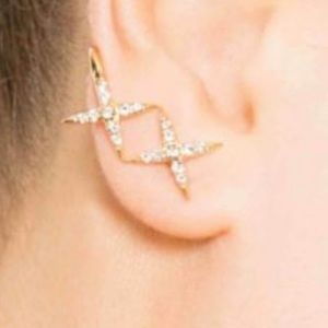 Elizabeth & James Vida ear cuff earrings 22k Gold